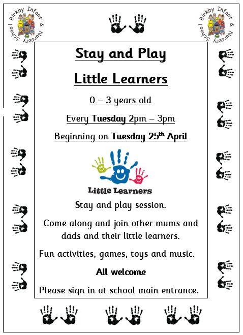 Stay and Play Little Learners @ Birkby Infant & Nursery School | England | United Kingdom